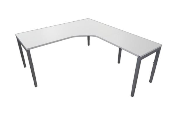 Schreibtisch-Winkelkombination - Weiß/Aluminiumfarben