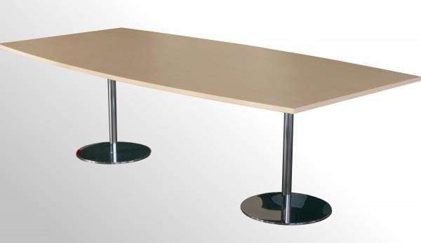 Günstiger Besprechungs- und Konferenztisch - Ahorn Dekor - 2400 x 1200 mm
