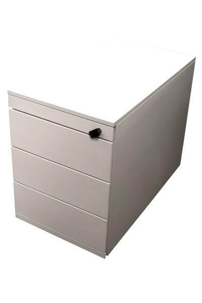 Gebrauchter Steelcase Rollcontainer mit Stahlfront - Weiß