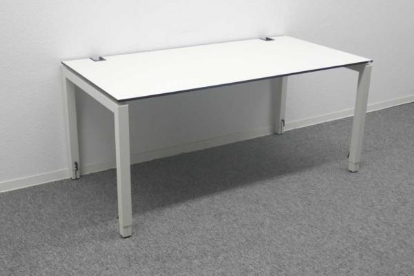 Gebrauchter Schärf Schreibtisch - Weiß mit schwarzer Kante - 1600x800 mm - Sonderpreis!