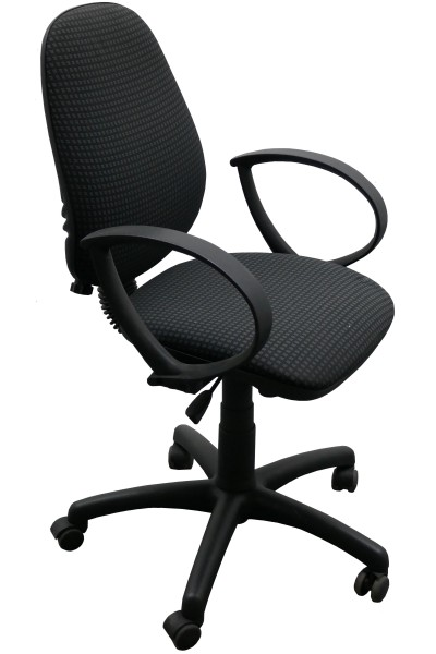 Günstiger, gebrauchter Bürodrehstuhl mit Armlehnen