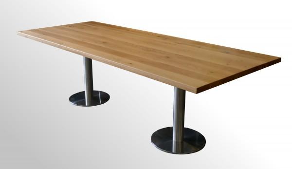 Günstiger Massivholz Besprechungs- und Konferenztisch - Echtholz - B 2800 mm