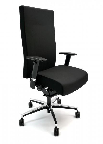 Günstiger Bürodrehstuhl - Chefsessel - Stoff schwarz