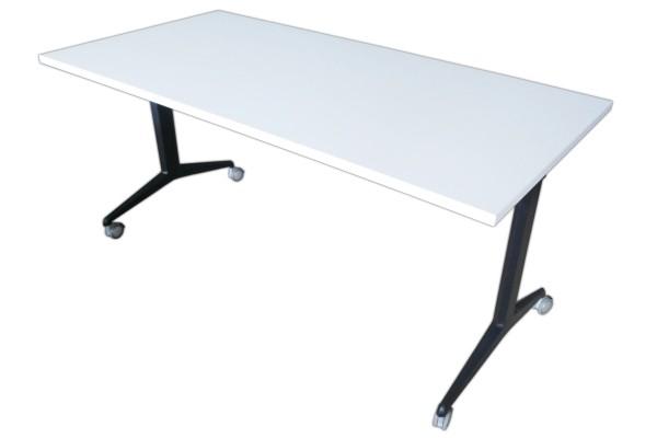 Günstiger, gebrauchter Klapptisch - Konferenztisch - Weiß
