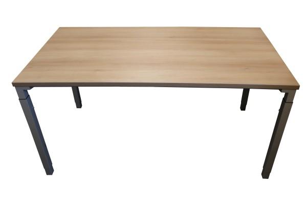 Günstiger Steelcase Arbeitstisch mit neuer Platte - Akazie Dekor