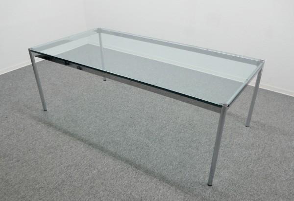 Gebrauchter USM Haller Glastisch - Schreibtisch - 2000 x 1000 mm