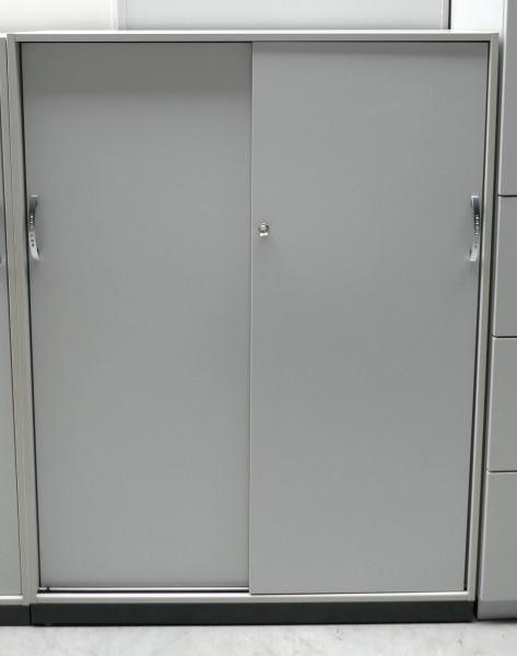 Gebrauchter Wini Aktenschrank - Schiebetürenschrank - grau - B 1200 mm