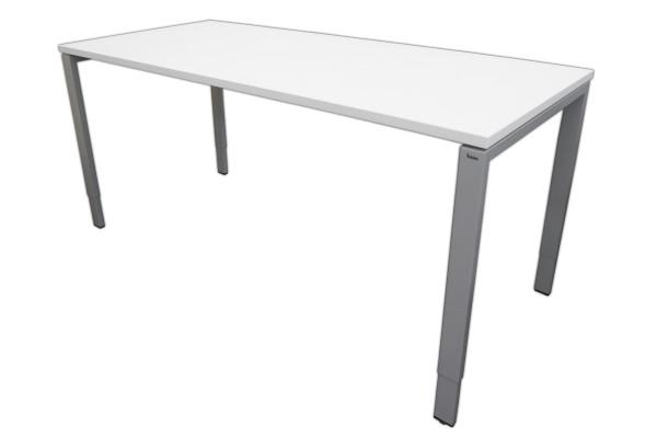 Gebrauchter Bene Schreibtisch mit neuer Platte - weiß