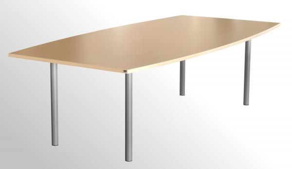 Günstiger Besprechungs- und Konferenztisch - 4-Fuß - Ahorn Dekor - 2400 x 1200 mm