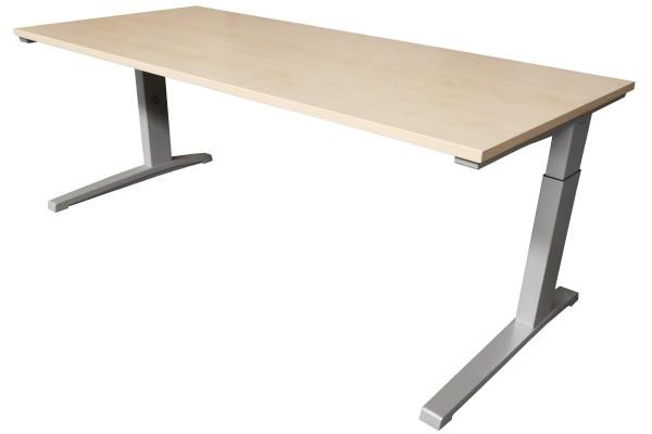 Günstiger, gebrauchter Steelcase Schreibtisch - Ahorn Dekor - mit neuer Arbeitsplatte!