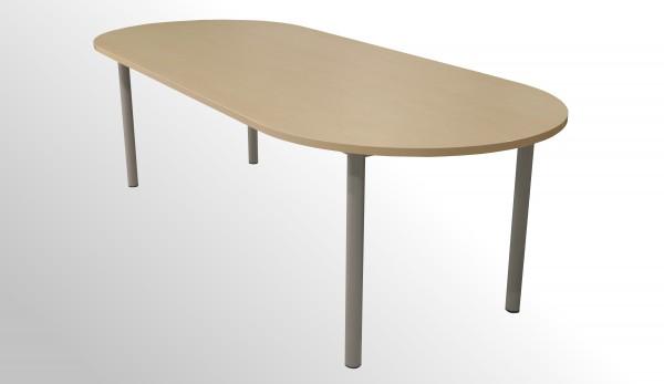 Günstiger Besprechungs- und Konferenztisch - Ahorn Dekor - 2400 x 1000 mm