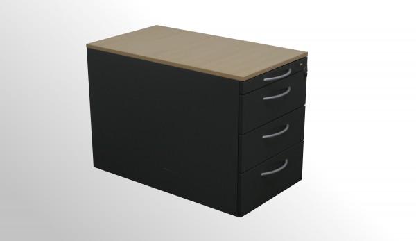 Gebrauchter Steelcase Rollcontainer - anthrazit/Ahorn Dekor
