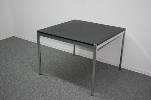 Günstiger, gebrauchter USM Haller Tisch - Arbeitstisch - 1000x1000 mm - Eiche schwarz