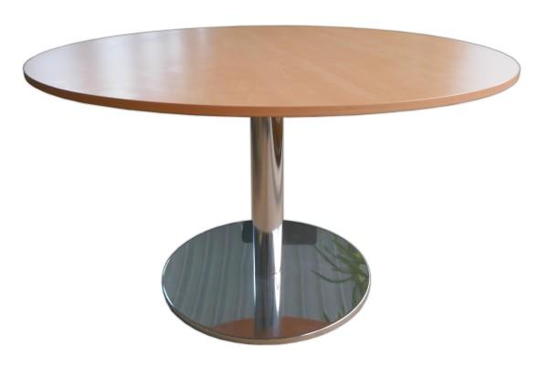 Günstiger, gebrauchter Besprechungs- und Konferenztisch - Rundtisch - Ø 1300 mm