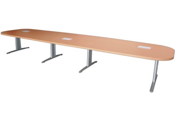 Gebrauchter Besprechungs- und Konferenztisch - Birnbaum Dekor - 5400 x T 1400 mm