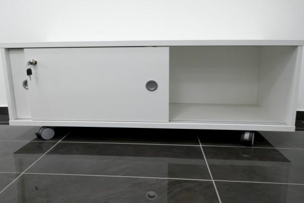 Drucker-Rollcontainer - Lowboard auf Rollen - Weiß
