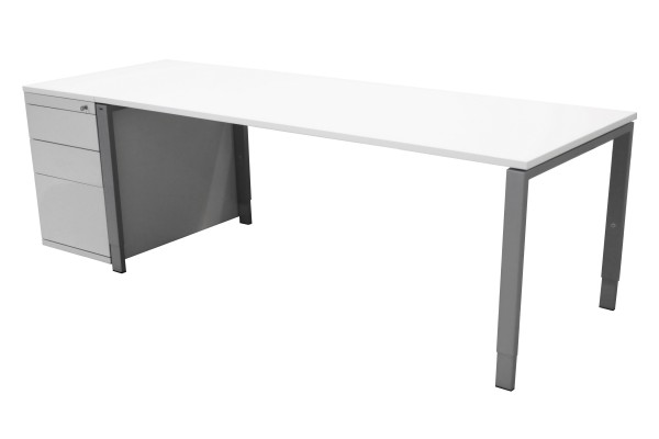 Günstiges Schreibtisch-Standcontainer-Set - Platten neu - weiß