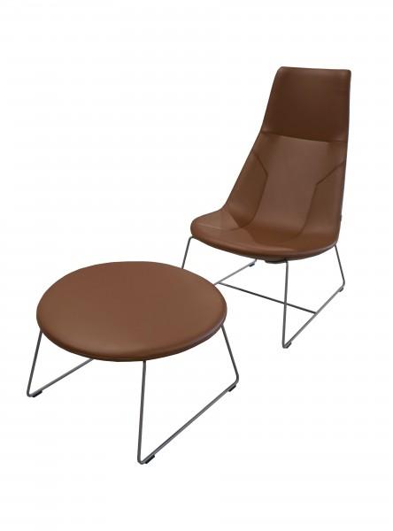 Günstiges Profim Chic Lounge Sesselelement incl. Ottomane für den Wartebereich