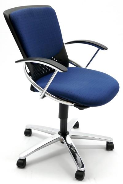 Gebrauchter König+Neurath Bürodrehstuhl mit Armlehnen
