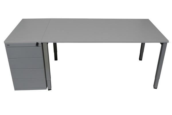 Günstiges, gebrauchtes Schreibtisch-Standcontainer-Set - mit neuen Platten!
