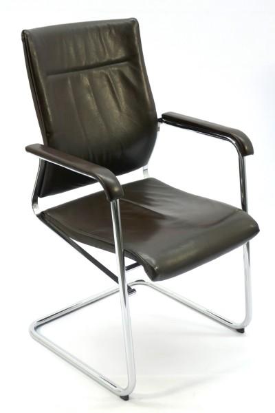 Gebrauchter Wilkhahn SITO Leder Besucher- und Konferenzstuhl