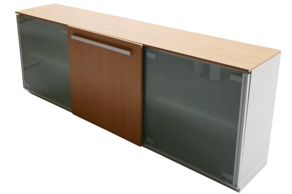 Gebrauchter Steelcase Schiebetürenschrank - Aktenschrank - mit Glasschiebetüren