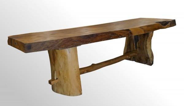 Hochwertiger Echtholz-Besprechungstisch-Esstisch für Büro oder Zuhause