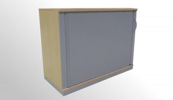 Gebrauchter Werndl Rollladenschrank - Ahron Dekor/Aluminiumfarben - 2 Ordnerhöhen