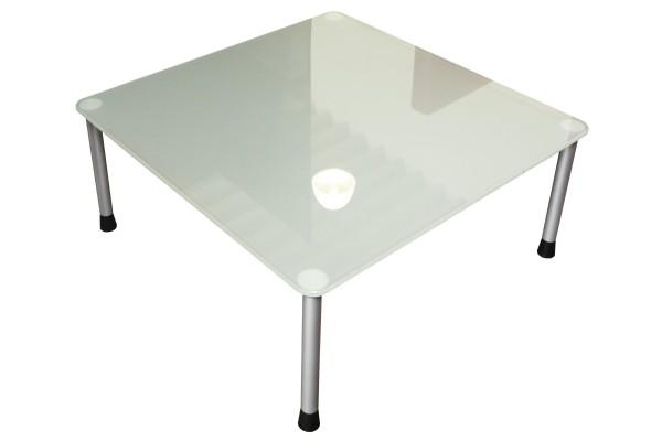 Günstiger, gebrauchter Beistelltisch - Glastisch