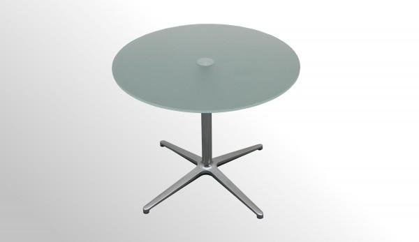 Günstiger Profim Besprechungstisch - Beistelltisch - Milchglasplatte Ø 750 mm